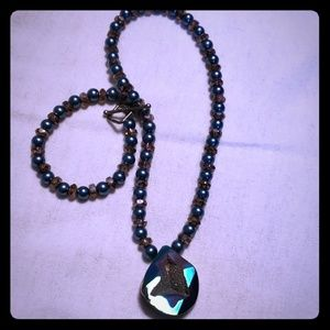 Jewelry - FAUX DRUSY NECKLACE